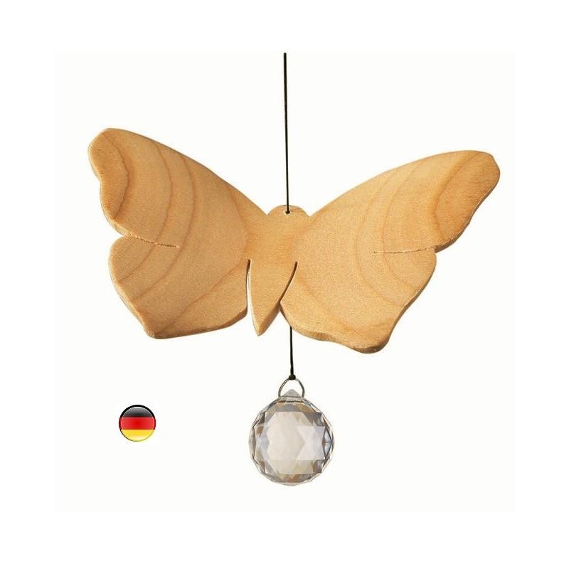 Mobile papillon, cristal et bois noble sternengasse