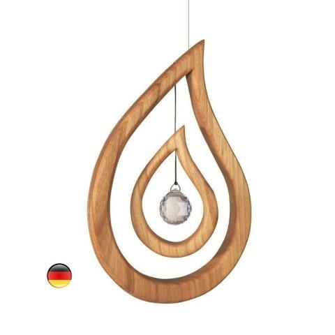 Mobile goutte, cristal swarovski et bois noble sternengasse