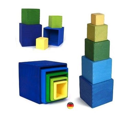 Cubes, boites gigognes, petit modèle Grimm's