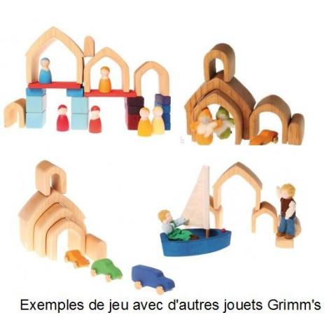Maison gigogne, jouet d'eveil en bois naturel Grimm's