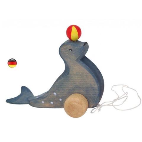 Otarie jongleuse, jouet à tirer