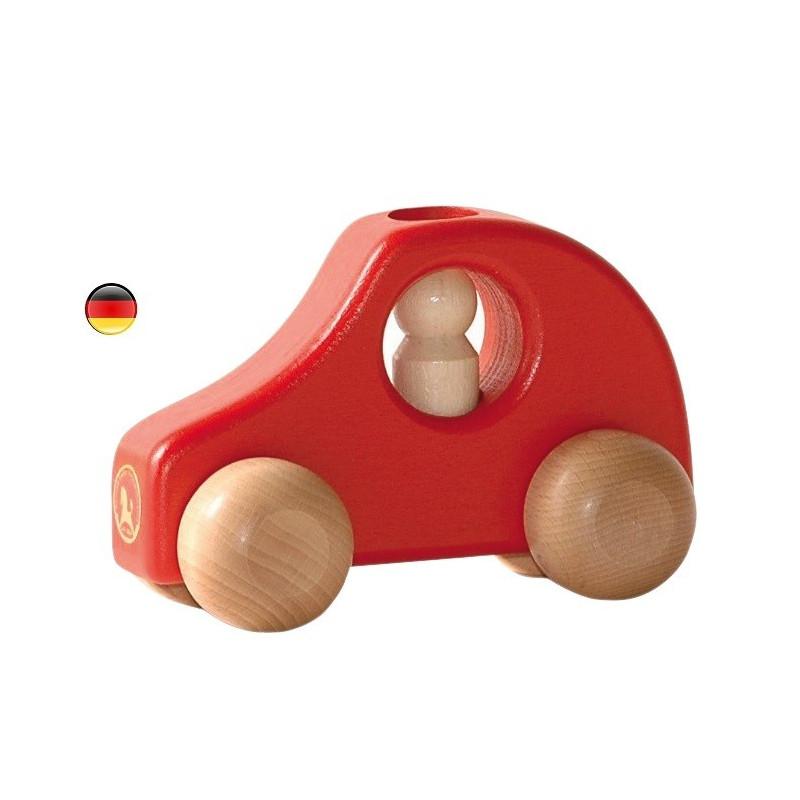 Voiture en bois avec conducteur amovible, jouet solide de Ostheimer