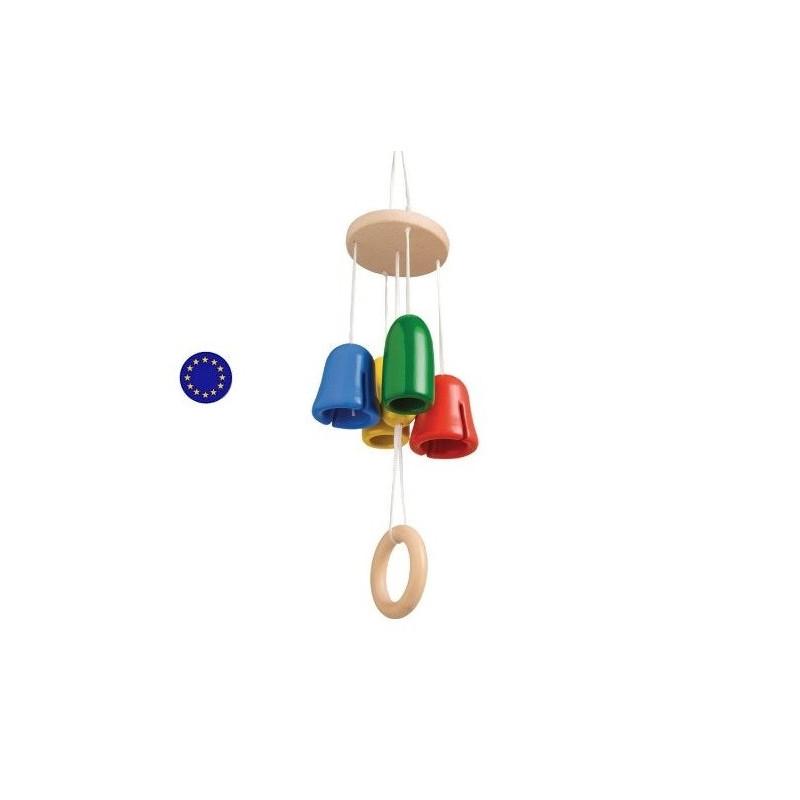 Carillon musical à clochettes mobile en bois de Gluckskafer