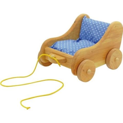 Chariot à tirer, jouet en bois