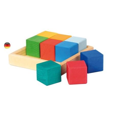 Quadrat cubes, encastrement en bois