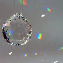 Geode en cristal Swarovski, 30mm à suspendre pour mobile waldorf steiner, sternengasse