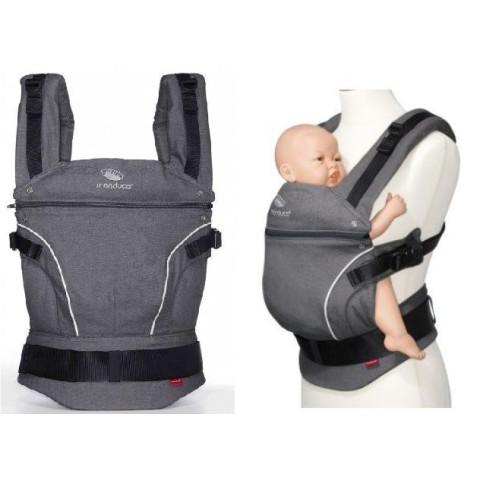 Manduca, cdak grey, gris  porte bébé physiologique en coton Bio