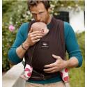 Echarpe de portage souple Manduca Sling, marron chocolat porte bébé en coton Bio