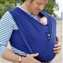 Echarpe de portage souple Manduca Sling, bleu porte bébé en coton Bio