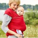 Echarpe de portage souple Manduca Sling, rouge chilly porte bébé en coton Bio