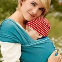 Echarpe de portage souple Manduca Sling, turquoise porte bébé en coton Bio