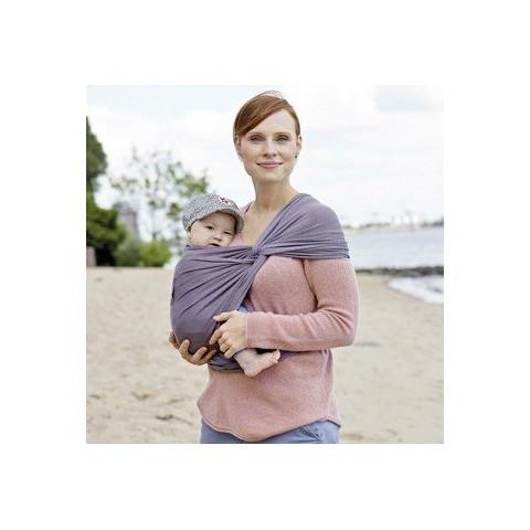 Echarpe de portage souple Manduca Sling, gris porte bébé en coton Bio