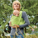 Echarpe de portage souple Manduca Sling, vert anis porte bébé en coton Bio