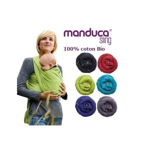 Echarpe de portage souple Manduca Sling, porte bébé en coton Bio