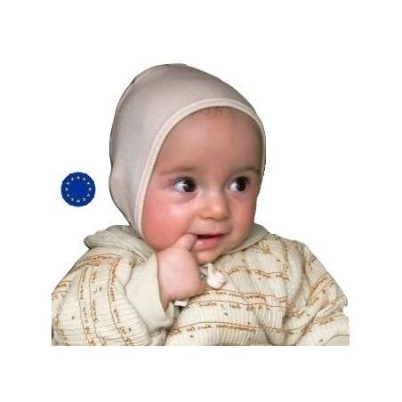 Bonnet bébé en laine et soie IoBio