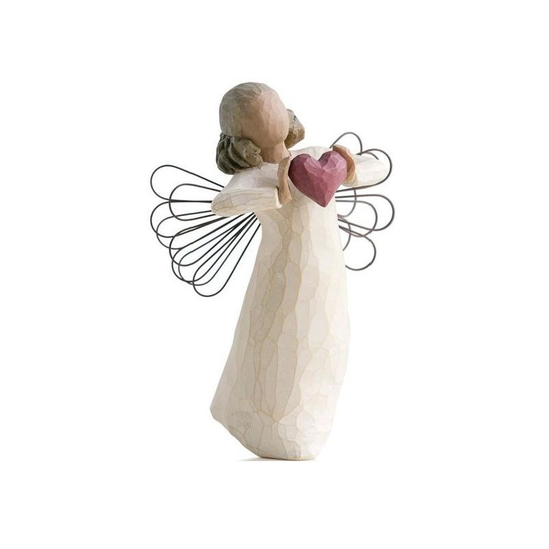 Statuette with love, avec amour, cadeau amour, amitié, tendresse, steiner waldorf de Willow Tree