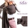 Bulline marron chocolat, sling de portage Néobulle, echarpe sans noeud porte bébé physiologique de néobulle france