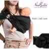 Bulline noir, sling de portage Néobulle, echarpe sans noeud porte bébé physiologique de néobulle france