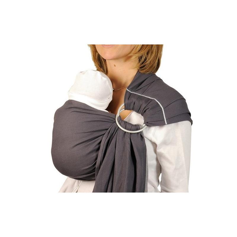 Bulline anthracite, sling de portage Néobulle, echarpe sans noeud porte bébé physiologique de néobulle france