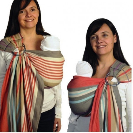 Bulline Hugo, sling écharpe de portage sans noeud, porte bébé physiologique en tissu hamac de Neobulle france