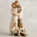 Statuette Together, ensemble amoureux, parents de Willow Tree