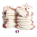 Lot 20 couches lavables chanvre et coton bio, france Kidego by zebulange