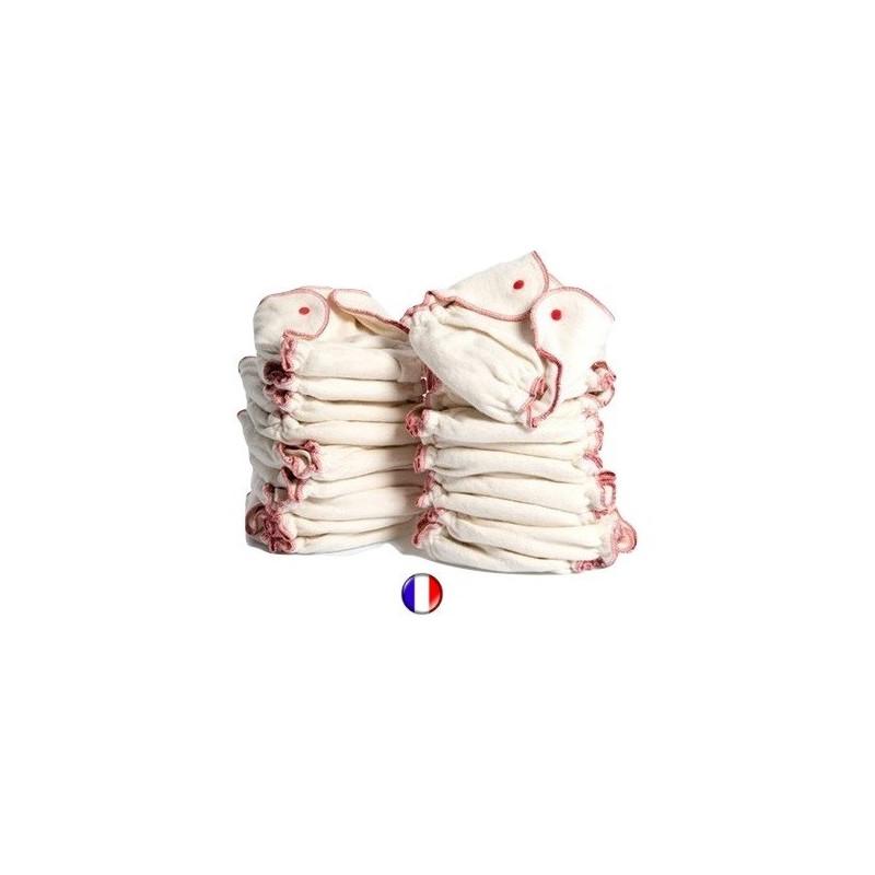 Lot 20 couches lavables chanvre et coton bio, france Kidego by zebulange