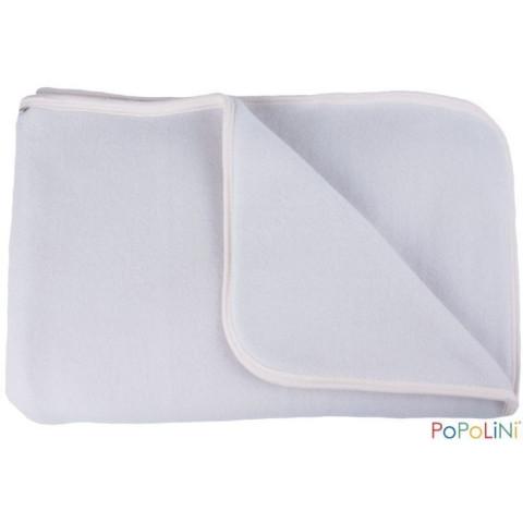 Couverture polaire de coton bio, gris pour bébé IOBIO de popolini
