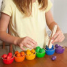 Bols et billes, jouet libre en bois steiner waldorf et montessori Grapat