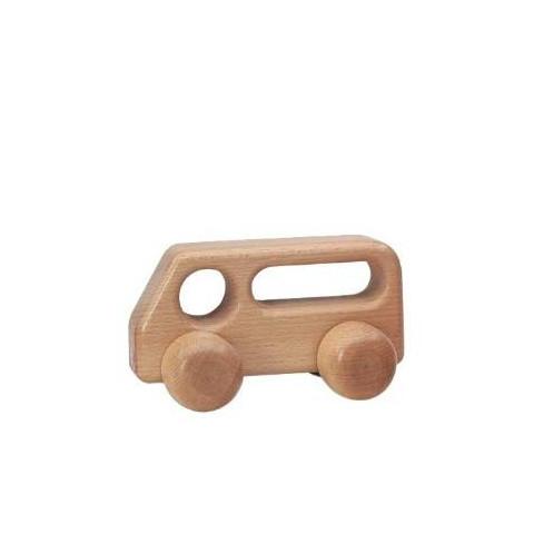 Bus à pousser, jouet en bois solide de Ostheimer