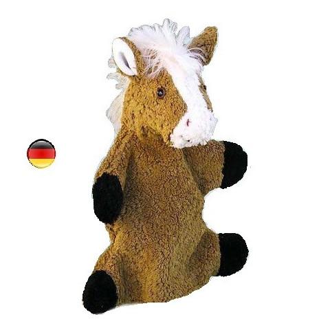Marionnette cheval,  doudou en coton bio Kallisto