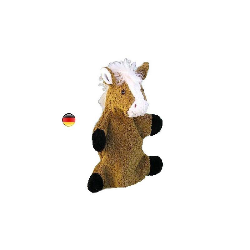 Marionnette cheval, peluche doudou en coton bio, jouet ecologique et ethique Kallisto