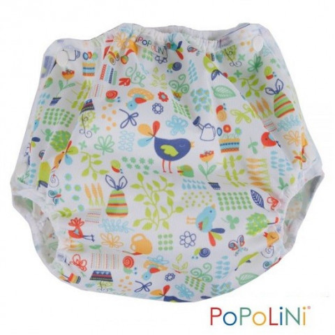 Culotte de protection Vento garden à pression pour couches lavables, Popolini