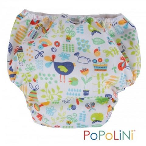 Trainer garden, culotte d'apprentissage de propreté, couche lavable coton bio blanc, Popolini