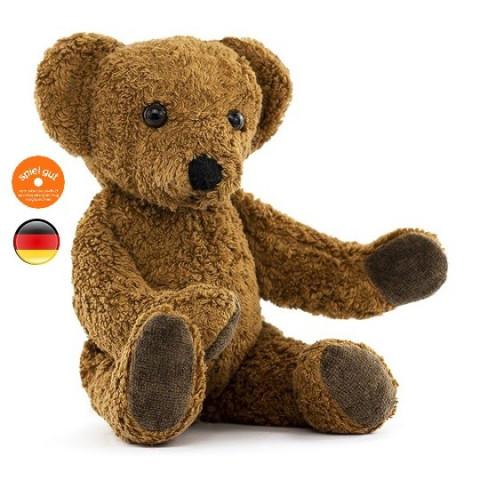 Peluche ours brun en coton bio Kallisto