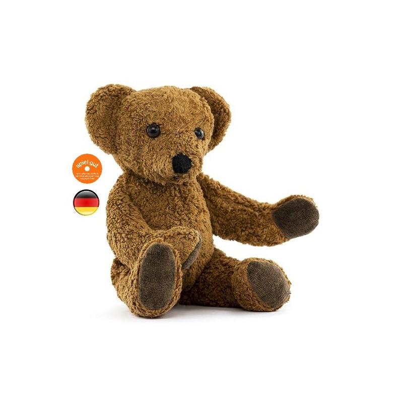 peluche ours brun, teddy en coton bio vegan, jouet ecologique et ethique kallisto