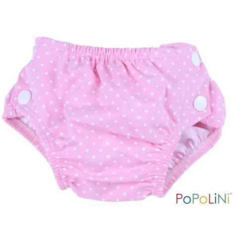 Couche piscine rose, maillot de bain popolini
