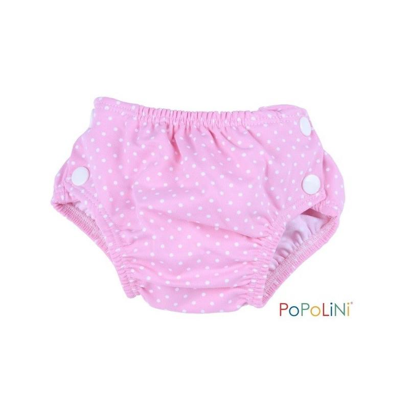 Couche piscine rose, maillot de bain bébé anti fuite popolini