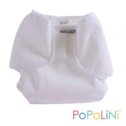 Culotte de protection Popowrap blanc à velcro pour couches lavables, Popolini