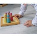 12 amis pastel, figurines jouet en bois steiner waldorf Grimm's