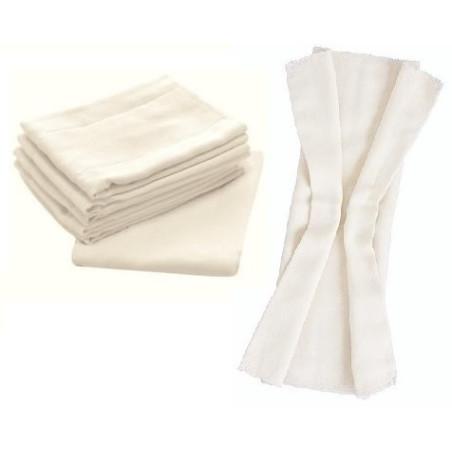 Lot 10 couches lavables, langes pré-pliés (préfold)