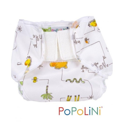 Culotte de protection Popowrap jungle à velcro pour couches lavables, Popolini
