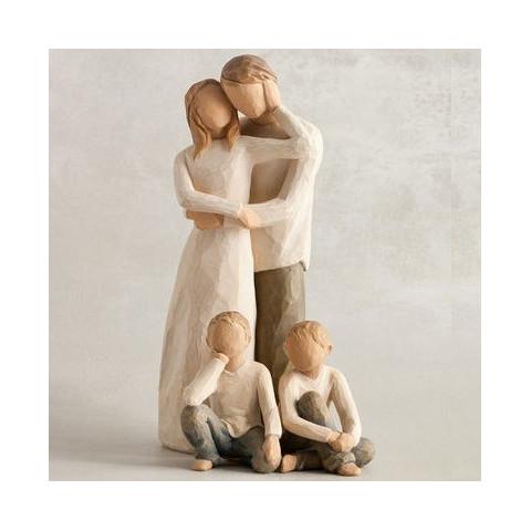 Statuette garçon, Inquisitive child, pour famille de figurine et fratrie Willow Tree