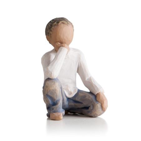 Statuette garçon, Inquisitive child, Willow Tree