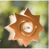 Etoile spirale et cristal de Swarovski à suspendre pour des arcs en ciels energisants wald fabrik allemagne
