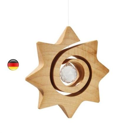 Etoile spirale et cristal à suspendre