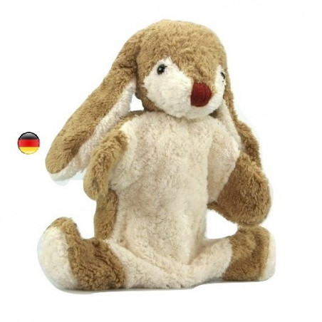 Marionnette Lapin,  doudou en coton bio Kallisto