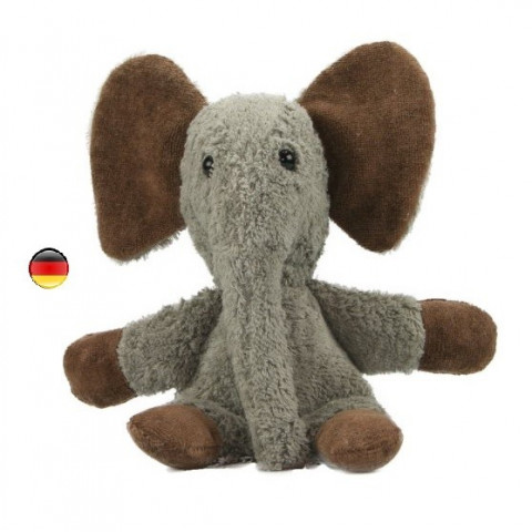 Elephant,  doudou peluche en coton bio, jouet naturel ecologique Kallisto