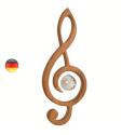 Mobile Clé de sol, musique cristal et bois noble steiner waldorf de sternengasse