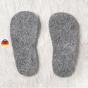 Semelle en feutre laine naturelle, chausson et chaussure  Pololo
